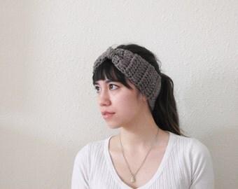 Chunky Crochet Earwarmer Headband - Gingerbread