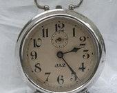 French vintage jaz alarm clock, art deco, 1930s clock, vintage alarm clock, French vintage clock, alarm clock, antique alarm clock
