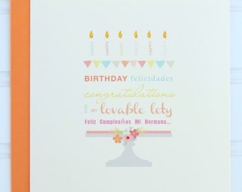 Custom Birthday Card, Card for Wife, Girlfriend, Mother, Daughter, Fiancée, Friend, Stepmother, Sister, Niece, Grandmother, Cousin, Aunt