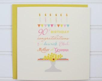 Custom Birthday Card, 18th Birthday Card, 21st Birthday Card, 25th Birthday Card, 30th Birthday Card for Wife, Sister, Friend, Niece, Aunt