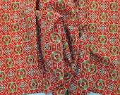 Vintage Japanese Kimono fabric piece - lightweight wool unused 140cm x 37cm