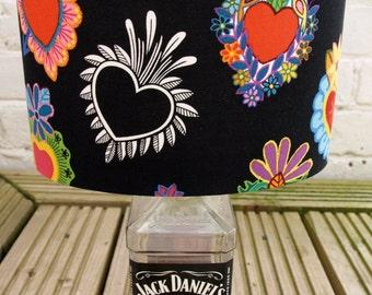 Mexican Hearts Tattoo Lampshade (Handmade)