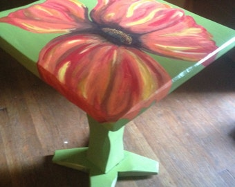 Colorful handpainted lamp table