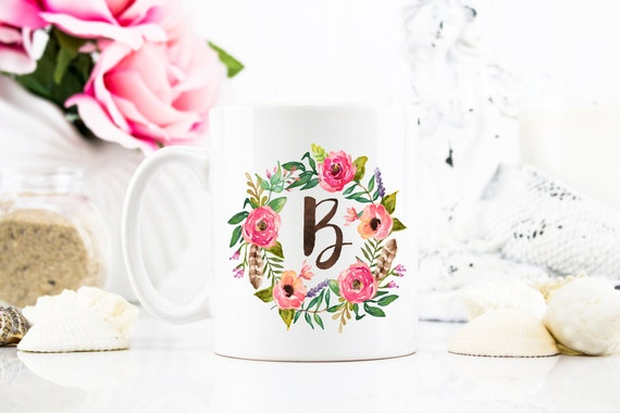 Beautiful monogrammed mugs