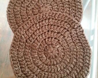 Handmade Chunky Crochet Circular Placemats