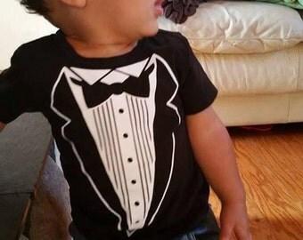 Tuxedo Shirt - Baby Onesie or Kid's T-Shirt