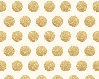 Faux Gold Glitter Polka Dotted Backdrop (FD2241)