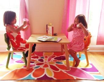 Tapis de chambre d'enfant les couleurs chambre à coucher - Home Decor - vives de fille de fleur abstraite tapis - tapis Orange rose jaune fleur violet Turquoise-