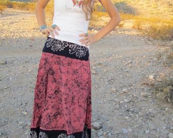 Vintage Ethnic Cotton Batik Wrap Skirt.......