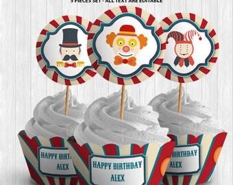Circus Cupcake Decor
