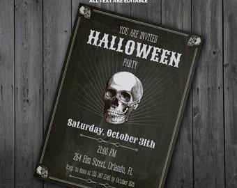 Halloween Skull Invitation