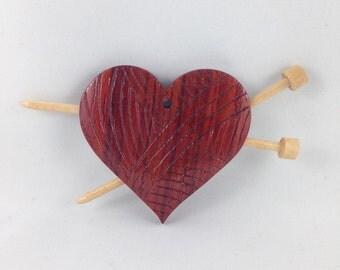 Heart Shaped Ball Of Yarn Ornament
