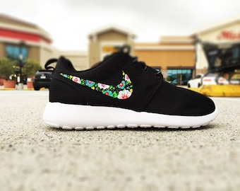 nike roshe run flower design