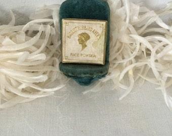 Cardboard Face Powder Box...Harriet Hubbard Ayer...Edwardian Face Powder Box