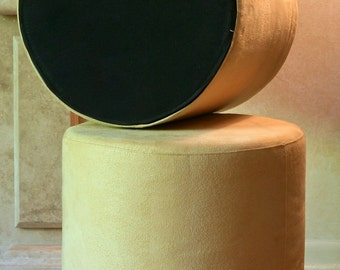 2 MICROSUEDE STOOLS by Chiasso