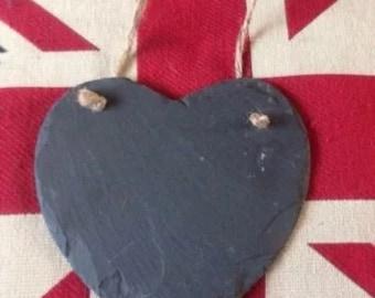 Heart Shape Slate Chalk Board Kitchen Gift New Home. Sweet Cart