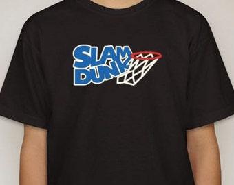 Kids Basketball Slam Dunk Shirt