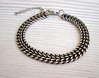 Mens Silver Bracelet , Men's Gifts , Mens Silver Jewelry , Bracelets For Men , Anniversary Gift Men , Boyfriend Gift , Mens Bracelet ,
