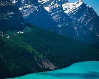 Photo of Peyto Lake Banff National Park Albert Canada Banff Photograph Blue Mountain Landscape Wall Art #vi95