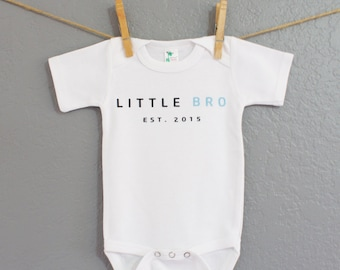 Cute Personalized White Baby Outfit, Cute Baby Bodysuit, Little Bro Bodysuit, Kids Clothes, Baby Clothes, Kids, Baby Boy, Personalized Gift