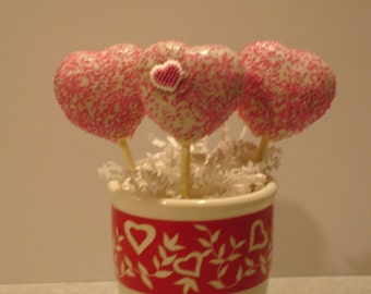 Heart  with love Cake pops