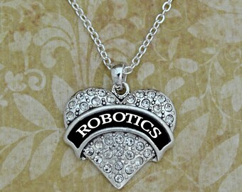 Robotics Heart Necklace