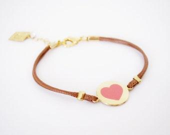 Heart Bracelet, Girl Leather Bracelet, Leather Bracelet Girl, Best Friend Leather Bracelet, Thin Leather Bracelet, Gift For Teenage Girl