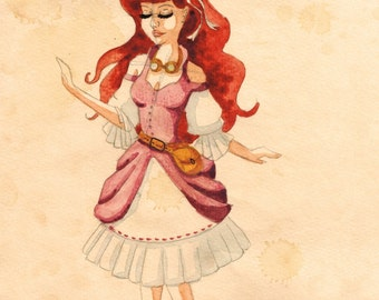Steampunk Ariel PRINT