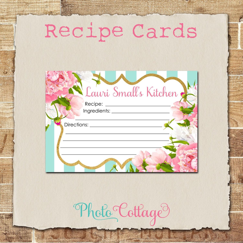 recipe cards bridal shower recipe card glitter gold kitchen recipes recipe card mint u0026 pink bridal shower recipe card bs227