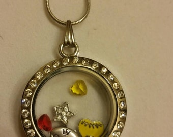 Softball queen living locket necklace, player, team, sport, athlete, fan