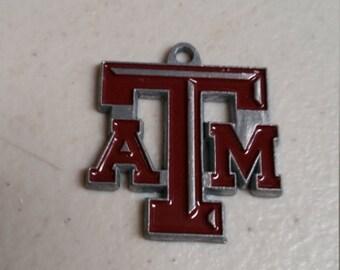 Texas A & M Aggies Silver NCAA Logo Charm