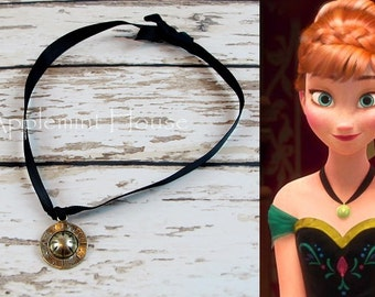 frozen Anna Inspired Necklace, Anna Necklace, Frozen party necklace