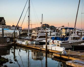 Boston Waterfront Sailboat Reflection Photo Print 8x10, 11x14, 16x20 or canvas
