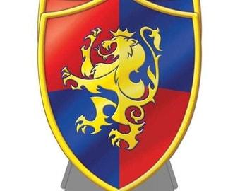 1/  Medieval Shield Centerpiece 3D