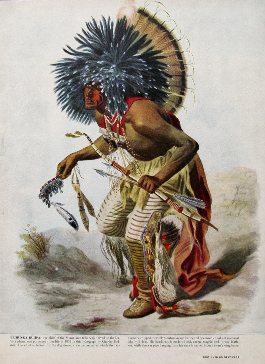 1949 Hidatsa Minnetaree Tribe War Chief Dog Soldier