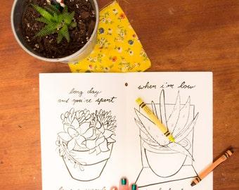 Windowsill Self Care Coloring Book
