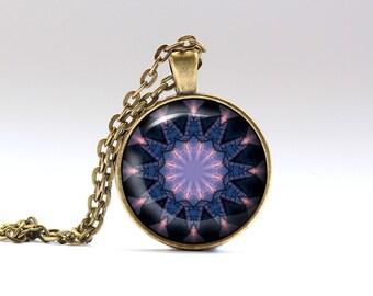Boho jewelry Mandala necklace Indie pendant OWA214