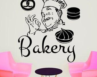 Wall Decals Bakery Decal Vinyl Sticker Home Decor Interior Design Bedroom Kitchen Cafe Restaurant Mural Ah43