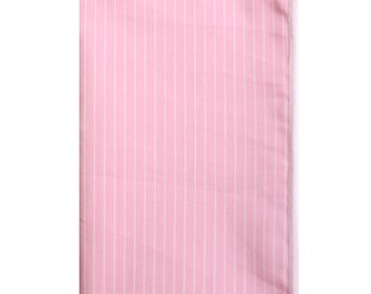 Pink and White Stripe Pocket Square
