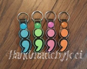 Semi Colon Keychains