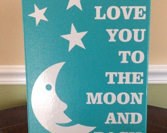 9X12 I Love You To The Moon And Back Canvas