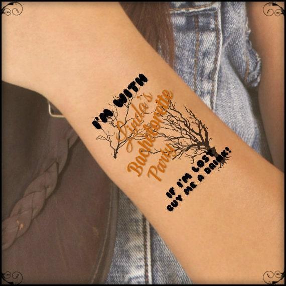 Temporary tattoo 4 bachelorette party custom wrist tattoos for Custom temp tattoos