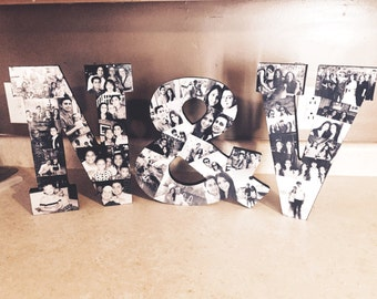 Wooden Letter Photo Collage (3 letters)