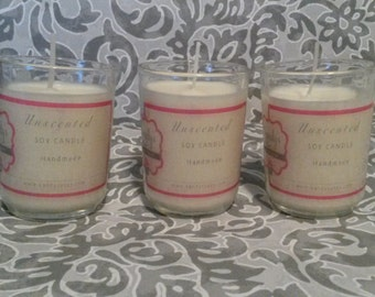 Unscented SOY Candle