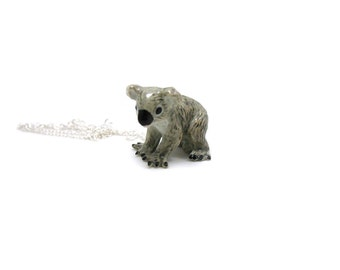 Koala Bear Necklace, Charm Necklace, Charm Jewelry, Koala Bear Pendant, Koala Bear Jewelry, Koala Bear Charm, Bear Necklace, Bear Jewelry