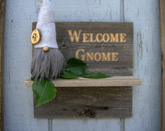 Vintage whimsical gnomes home decor craft items by for Gnome 3 decoration fenetre