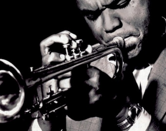 Freddie Hubbard Poster, Playing the Trumpet, Musician, Jazz, Bebop
