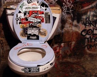 CBGB Poster, Toilet, CBGB Bathroom, Iconic Punk Music Venue, New York City
