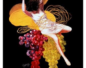 Asti Cinzano Poster, Vintage French Wine Advertising Poster, Cappiello