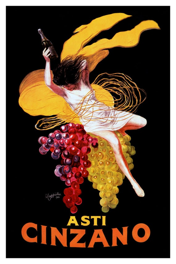 Asti Cinzano Poster Vintage French Wine Advertising Poster